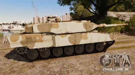 Leopard 2A7 para GTA 4 esquerda vista