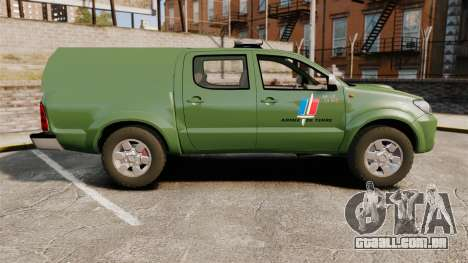 Toyota Hilux Land Forces France [ELS] para GTA 4 esquerda vista