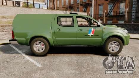 Toyota Hilux Land Forces France [ELS] para GTA 4 esquerda vista