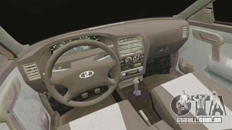 VAZ-2112 híbrido para GTA 4 vista interior