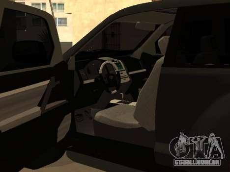 Toyota Land Cruiser Prado 2012 para GTA San Andreas vista direita