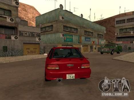Subaru Impreza Wagon para GTA San Andreas vista direita