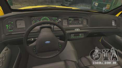 Ford Crown Victoria 1999 SF Yellow Cab para GTA 4 vista de volta