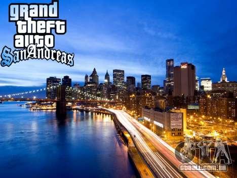 Loadscreens New-York para GTA San Andreas por diante tela
