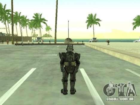 New skin from Fallout 3 para GTA San Andreas terceira tela