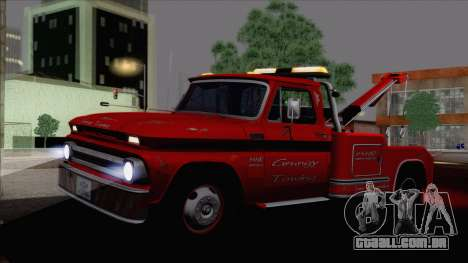 Chevrolet C20 Towtruck 1966 1.01 para GTA San Andreas esquerda vista