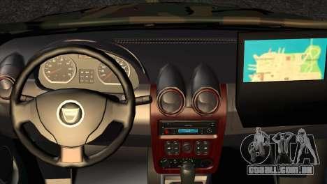Dacia Duster Army Skin 2 para GTA San Andreas vista direita
