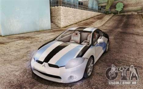Mitsubishi Eclipse GT v2 para vista lateral GTA San Andreas