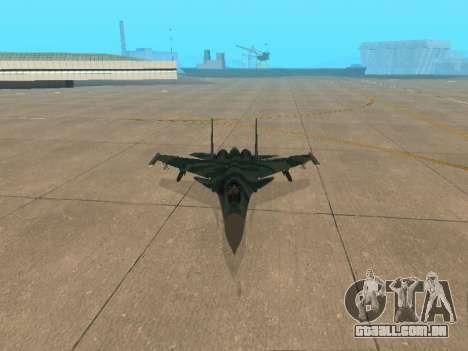 Su-33 para vista lateral GTA San Andreas