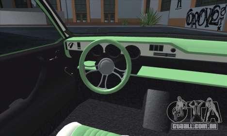 Dacia 1300 Retro Art para GTA San Andreas vista interior