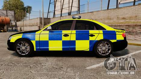 Audi S4 Police [ELS] para GTA 4 esquerda vista