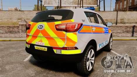 Kia Sportage Metropolitan Police [ELS] para GTA 4 traseira esquerda vista
