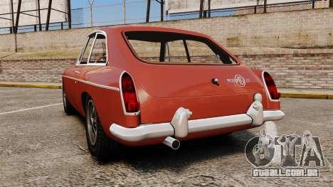 MG MGB GT 1965 para GTA 4 traseira esquerda vista