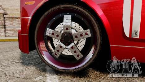 Rolls-Royce Phantom Mansory para GTA 4 vista de volta