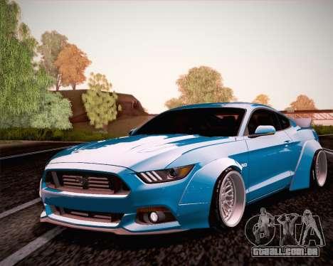 Ford Mustang Rocket Bunny 2015 para GTA San Andreas vista traseira