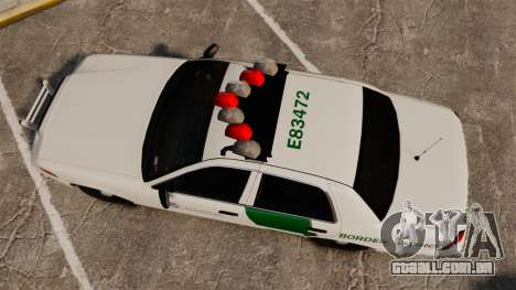 Ford Crown Victoria 1999 U.S. Border Patrol para GTA 4 vista direita