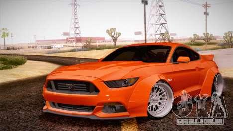 Ford Mustang Rocket Bunny 2015 para GTA San Andreas esquerda vista