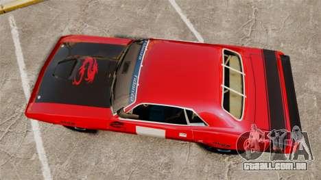 Plymouth Cuda AAR 1970 para GTA 4 vista direita