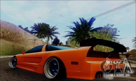 Acura NSX Drift para GTA San Andreas esquerda vista