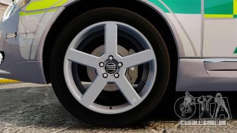 Volvo V70 Ambulance [ELS] para GTA 4 vista de volta