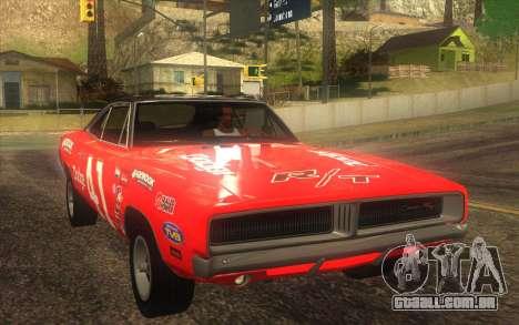 Dodge Charger RT 1969 para GTA San Andreas vista superior