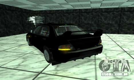Mitsubishi Lancer Evo 9 para GTA San Andreas vista traseira