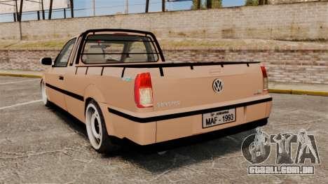 Volkswagen Saveiro G3 SuperSurf para GTA 4 traseira esquerda vista