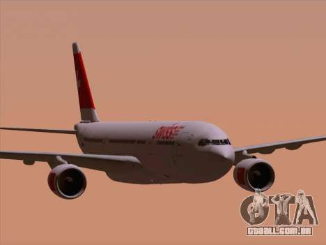 Airbus A330-223 Swiss International Airlines para GTA San Andreas vista inferior