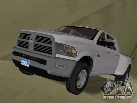 Dodge Ram 3500 Laramie 2012 para GTA Vice City vista lateral