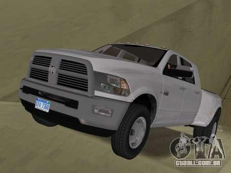 Dodge Ram 3500 Laramie 2012 para GTA Vice City vista lateral