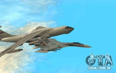 Su-33 para GTA San Andreas esquerda vista