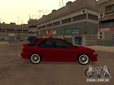 Subaru Impreza Wagon para GTA San Andreas esquerda vista