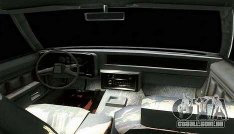 Chevrolet Malibu 1981 para GTA San Andreas traseira esquerda vista