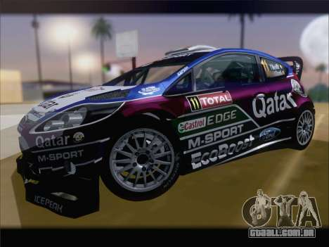 Ford Fiesta RS WRC 2013 para vista lateral GTA San Andreas
