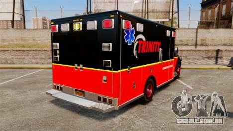 Landstalker L-350 Trinity EMS Ambulance [ELS] para GTA 4 traseira esquerda vista