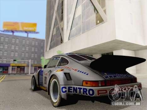 Porsche 911 RSR 3.3 skinpack 3 para GTA San Andreas esquerda vista