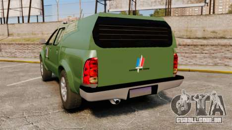 Toyota Hilux Land Forces France [ELS] para GTA 4 traseira esquerda vista