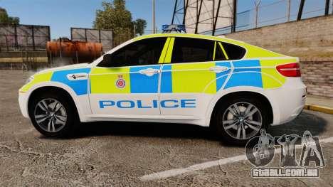 BMW X6 Lancashire Police [ELS] para GTA 4 esquerda vista