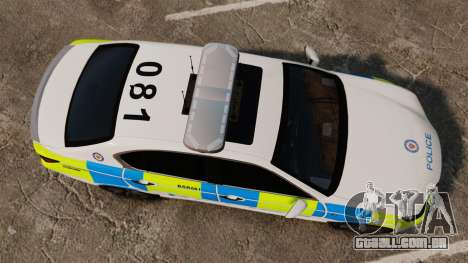 Lexus GS350 West Midlands Police [ELS] para GTA 4 vista direita
