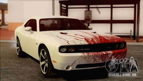 Dodge Challenger SRT8 2012 HEMI para GTA San Andreas vista superior