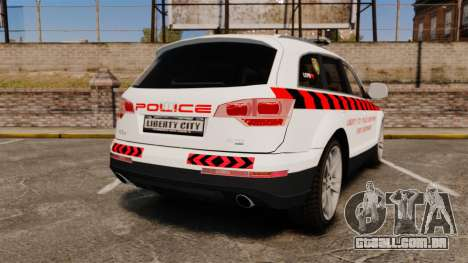Audi Q7 Enforcer [ELS] para GTA 4 traseira esquerda vista