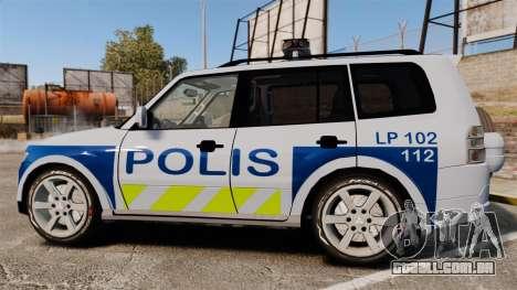 Mitsubishi Pajero Finnish Police [ELS] para GTA 4 esquerda vista