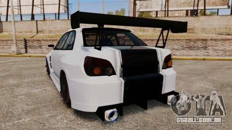 Subaru Impreza v2.0 para GTA 4 traseira esquerda vista