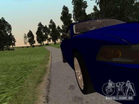Ford Mustang GT 1999 para GTA San Andreas traseira esquerda vista