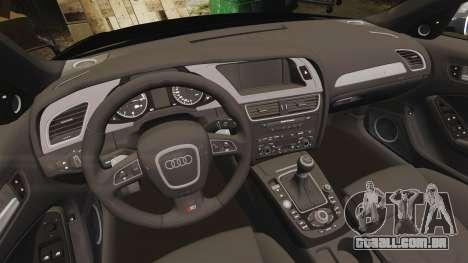 Audi S4 Police [ELS] para GTA 4 vista interior