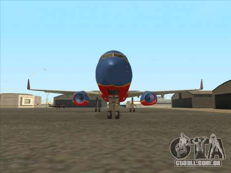 Boeing 737 Southwest Airlines para GTA San Andreas vista interior