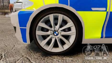 BMW 550i Metropolitan Police [ELS] para GTA 4 vista de volta