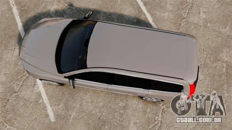 Volvo V70 Unmarked Police [ELS] para GTA 4 vista direita