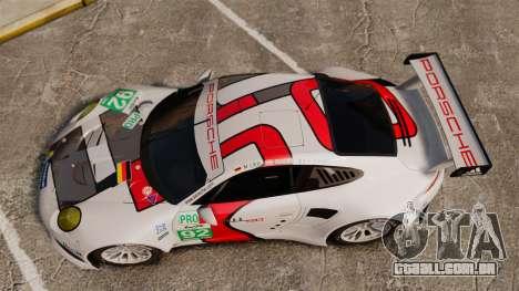 Porsche 911 (991) RSR para GTA 4 vista direita