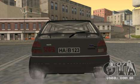 Ford Fiesta Mk3 XR2i para GTA San Andreas vista traseira